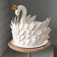 50 Most Beautiful looking Swan Cake Design that you can make or get it made on the coming birthday. Pretty Birthday Cakes, Pretty Cakes, Cute Cakes, Beautiful Cakes, Amazing Cakes, Cake Cookies, Cupcake Cakes, Bolo Cake, Animal Cakes