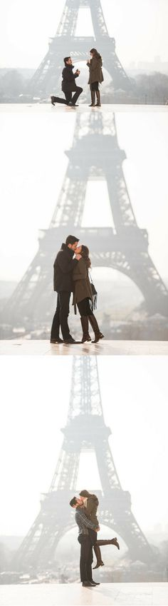 He planned the most beautiful way to honor her late grandmother with a proposal in Paris. <3