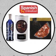 Lote Gourmet, compuesto por Aceite de Oliva Virgen Extra de Jaén, Paella de Calamar y Jamón Ibérico de Bellota de Guijuelo. http://www.spanishonlinefood.com/en/iberian-products/gourmet-pack.html #Sof #ComidaEspañola #España #LoteGourmet #JamonIberico #IbericoDeBellota #Guijuelo #AceiteDeOliva #Aove #Jaen #Paella #SpanishFood #Spain #OliveOil #SquidPaella  #SpanishHam #Espagne #HuileDOlive #JambonEspagnol #Spanien #Olivenol #SpanischerSchinken #Gourmet #Food #Foodies Spanish Food Comida…