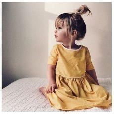 little yellow ♡ petite fille ♡ mode Fashion Kids, Little Girl Fashion, Fashion Black, Toddler Fashion, Fashion Clothes, Fashion Fashion, Korean Fashion, Fashion Dresses, Fashion Jewelry