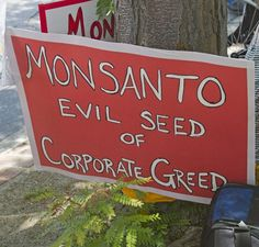Monsanto, Evil Seed Of Corporate Greed Sign / Monsanto Is Scrambling To Bury This Breaking Story – Don't Let This Go Unshared!  By Erin Elizabeth -  March 23, 2017