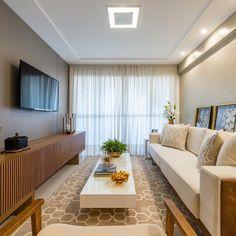 A imagem pode conter: sala de estar, mesa e área interna Interior Exterior, My House, Sofas, Curtains, Living Room, Architecture, Instagram, Furniture, Design