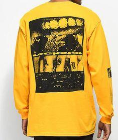 Post Malone Rockstar Yellow Long Sleeve T-Shirt - Male - M - Men's Clothing - T-Shirts - Graphic T-Shirts at Zumiez