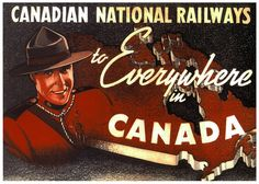 The CNR To Everywhere In Canada, 1936. #vintage #1930s #travel #Canada