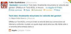 Test ADSL twittato da il fatto quotidiano con hashtag #testadsl #speedtest  qui il link su.diggita.it/YPdIbs
