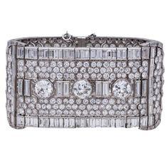 Platinum and Diamond Art Deco Choker Cute Choker Necklaces, Diamond Choker Necklace, Diamond Jewelry, Choker Jewelry, Jewellery, Jewelry Bracelets, Art Deco Necklace, Art Deco Jewelry, Fine Jewelry