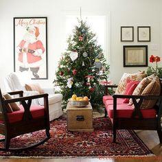 55 Warm Christmas Living Room D�cor Ideas  Family Holiday