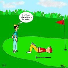 golf with a hangover