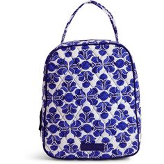 Vera Bradley Lunch Bunch Bag in Cobalt Tile ($34) ❤ liked on Polyvore featuring home, kitchen & dining, cobalt tile and vera bradley