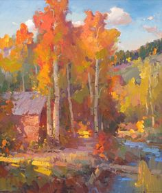 Landscape Paintings, Landscapes, Autumn Scenes, Soft Pastels, Abstract Oil, Felt Ornaments, Awesome Art, Barns, Trees