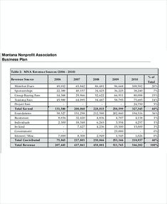non profit organization budget template