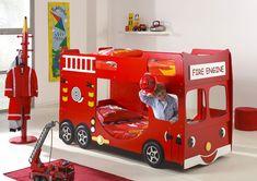 Letto Castello Camion Pompieri