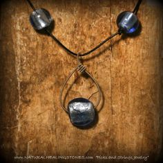 guitar string jewelry with  blue glass by Picksnstringsjewelry, $26.00