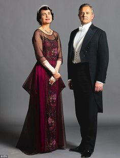 Cora and Robert in formal attire