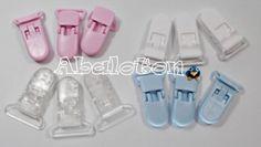 12 pinzas de seguridad para portachupetes (chupeteros)  pinzas seguridad manualidades,complementos