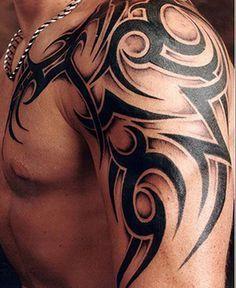 Tribal Tattoos For Guys Left Shoulder