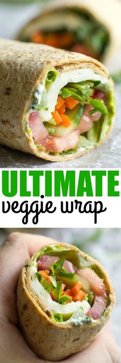 The Ultimate Veggie Wrap has herbed cream cheese, Havarti, and lots of fresh vegetables! Best of all, make it ahead for an easy lunch option.