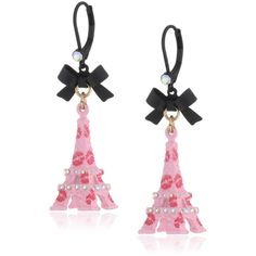 "Betsey Johnson ""Paris is Always a Good Idea"" Eiffel Tower Drop Earrings and other apparel, accessories and trends. Browse and shop 10 related looks."