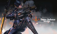 "Fighting heroine【 贰零壹陆 】 ART by - Ares - Concept artist,Concept team leader,""猿花蛇鸡狮"" Tower Defense, Cyberpunk 2020, Cyberpunk Art, Female Character Concept, Character Art, Robot Girl, Cyberpunk Character, Sci Fi Characters, Shadowrun"