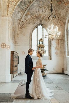 Sweden As A Stunning Location For Your Destination Wedding - Once Wed Long Sleeve Wedding, Wedding Dress Sleeves, Swedish Wedding, Beaux Couples, Vintage Wedding Photos, Vintage Weddings, Wedding Images, Wedding Pictures, Bride And Groom Pictures