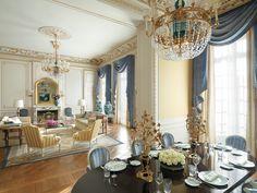 Empire chandeliers by Mathieu Lustrerie. Shangri-La, Paris