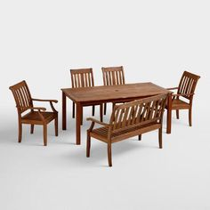 """Wood St Martin Dining Table - $249. Overall: 36""""W x 70.5""""D x 29.75""""H, 56.22 lbs.  Floor to bottom of table: 28.9""""H"""