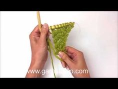 How to start knitting the shawl in DROPS 165-29 - YouTube