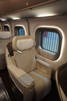 Japan is known for its network of state of the art Shinkansen train lines, a. Bullet Trains, because of their speed. High speed trains have been . Mode Of Transport, Public Transport, Bus Remodel, Airplane Decor, Aircraft Interiors, Rail Train, High Speed Rail, Airplane Photography, Interior Trim