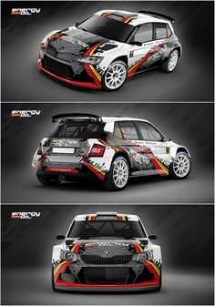 Design for Slovak MM Rally Team who will participate in 2016 season with Škoda Fabia driven by Pavel Valoušek and Veronika Havelková Sport Cars, Race Cars, Vehicle Signage, Vw Amarok, Skoda Fabia, Car Colors, Truck Design, Car Tuning, Car Painting