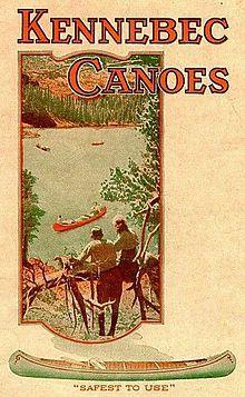 Kennebec Boat and Canoe Company Outdoor Art, Outdoor Life, Outdoor Camping, Canoe Trip, Canoe And Kayak, Wood Canoe, Kayak Boats, National Park Posters, Kayaking