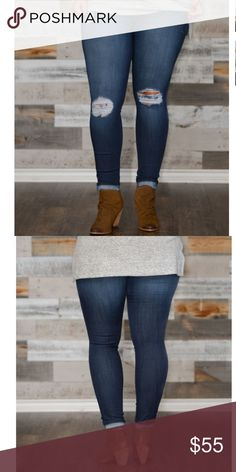 💕PRE-ORDER💕Plus Size Stretch Medium Rise Jeans Cute plus size rayon destroyed demin. Material is super stretchy for a great fit Made in USA. 1XL(14/16) 2XL(16/18) 3XL(18/20) (PRE-ORDER) Pants Skinny