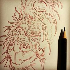 I love this style of Skoll and Hati