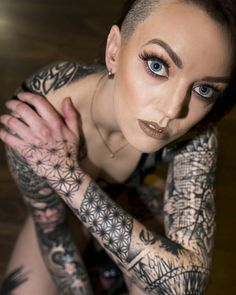 Pretty tattooed, fitness and inked girl Tracey from Neo Design, perfect photo by Matthew Smith