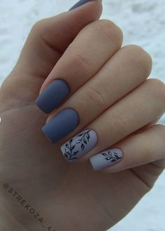Lovely Early Spring Short Nails Art Design And Colors Ideas Long Gel Nails, Gel Nails At Home, Spring Nail Art, Spring Nails, Matte Nails, Acrylic Nails, Short Nails Art, Creative Nails, Stylish Nails