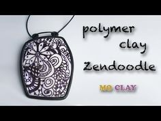 ▶ Polymer clay tutorial Zentangle Pendant by MoClay- Design transfer- Arcillas polimericas - YouTube