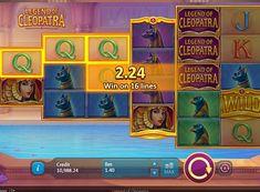 Игровой автомат Legend of Cleopatra на деньги  Компания Playson выпустила автомат под названием Legend of Cleopatra, который посвящен самой известной правительнице Древнего Египта. Он имеет нестандартное игровое поле и 100 линий выплат. Выгоднее играть на реальные деньги с выводом вам помогут символы Wild и Scatter. Cleopatra