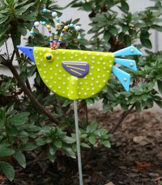 Yard birds make your garden more fun. They brighten any area and have no problem in the cold.  $45