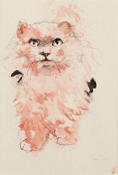 """Leonor Fini (1908-1996) - """"Katze"""", c. 1970"""