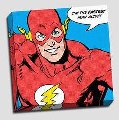 Retro Pop Art Comic Book Ben Day Wall Art on Premium Canvas Print-HUGE SELECTION | eBay