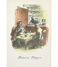 Domino Players From The Local, a series of lithographs depicting London pubs.