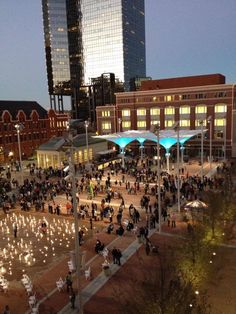 Downtown Fort Worth 's new living room - the Sundance Square plaza!