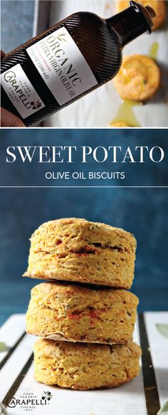 Sage Sweet Potato Olive Oil Biscuits Celebrate the flavors of fall with the high-quality ingredients Fall Recipes, Holiday Recipes, Dinner Recipes, Olive Oil Biscuits, Bread Recipes, Cooking Recipes, Paleo Bread, Muffins, Vegan Baking