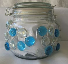 Glass Jar Canister by AcrossAmericaGlass on Etsy, $19.73
