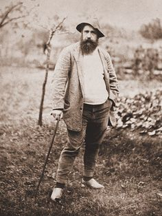 Photo by Theodore Robinson, Portrait of Monet. Whoa, who knew Monet was such a hipster? On another note, I was the only one at trivia who thought the fact this portrait was set in a garden was a dead giveaway that it was obviously Claude Monet. Claude Monet, Monet Paintings, Impressionist Paintings, Famous Artists, Great Artists, Theodore Robinson, Carl Spitzweg, Photo Portrait, Camille Pissarro