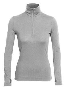 Icebreaker Women's Tech Top Long Sleeve Half Zip Jersey - Metro, Medium