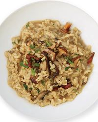Wild Mushroom-and-Red Wine Risotto  - Fast Italian Recipes on Food & Wine