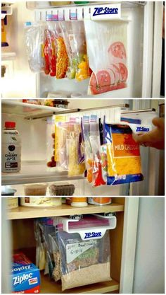 Zip n Store is a revolutionary food storage system that simplifies the way you store, organize and find your food! Zip n Store is a revolutionary food storage system that simplifies the way you store, organize and find your food! Kitchen Pantry, Kitchen Hacks, Kitchen Storage, New Kitchen, Life Kitchen, Awesome Kitchen, Storage Cabinets, Camping Kitchen, Awesome Food