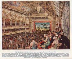The Blackpool Tower Ballroom Fine Painting by Fortunino Matania R.I