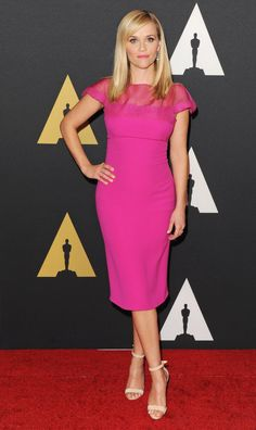 Who: Reese WitherspoonWore: Ralph LaurenWhere: Academy Of Motion Picture Arts And Sciences' Governors Awards via @stylelist
