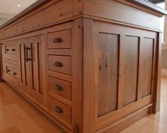 interesting traditional kitchen custom made kitchen island using vintage reclaimed wood rustic custom cabinets: reclaimed wood cabinets for ...